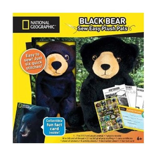 National Geographic Sew Easy Plush Pals Make & Play Black Bear