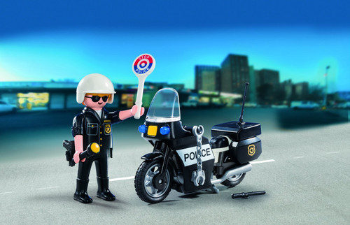 "Playmobil 5648 Carrying Case Small ""Police"" Building Kit"