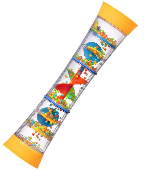 "Playkidz 12"" Rainmaker Rattle Toy for Babies & Toddlers, kids Rainfall Rattle Tube, Rain Stick Shaker, Music Sensory Auditory Instrument Toy."