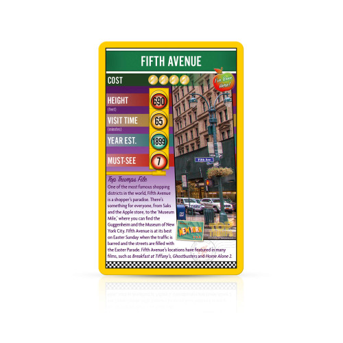 New York Top Trumps Card Game
