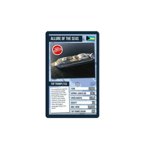 Ships Top Trumps Card Game