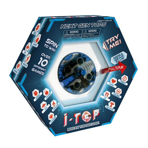 Goliath Games 85261 I-Top Game, Mega Gear Blue