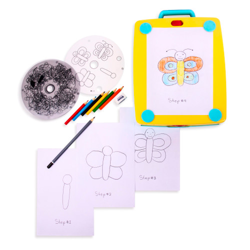 Playkidz Colorate Jr. Light Up Tracing Tablet, Creative Coloring Pad for Boys and Girls, Perfect Fun Birthday Gift for Kids Of All Ages