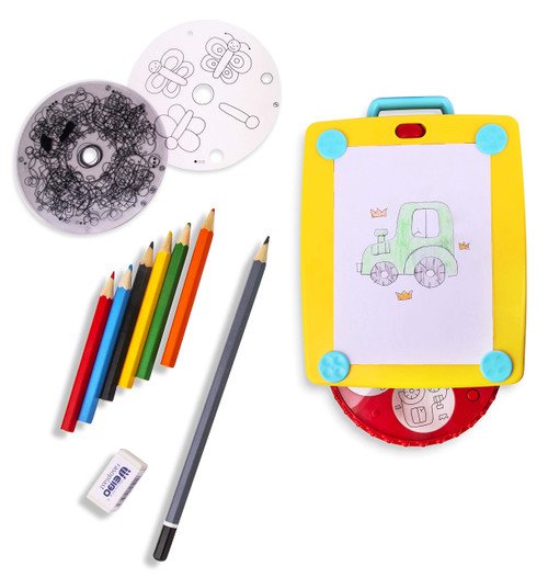 Playkidiz Colorate Jr. Light Up Tracing Tablet, Creative Coloring Pad for Boys and Girls, Perfect Fun Birthday Gift for Kids Of All Ages