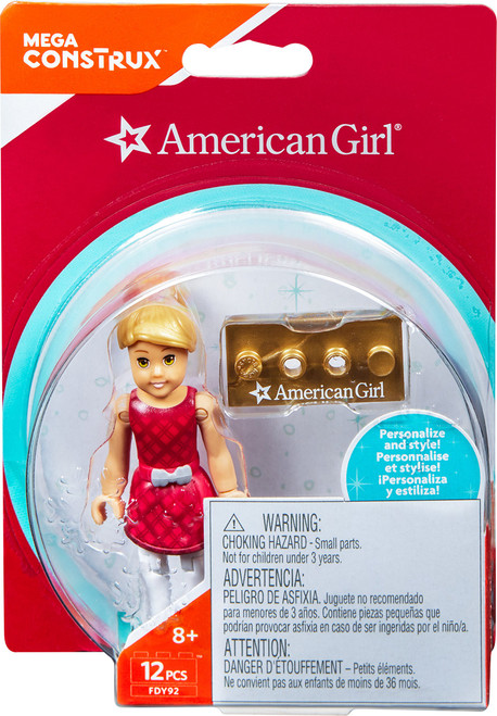 Mega Construx American Girl Sports Themed Mckenna Mini Figure Building Set, Red