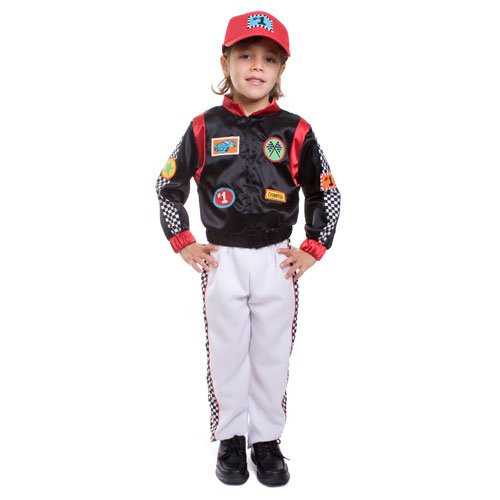 Kids Race Car Driver Costume By Dress Up America - Size Toddler 4