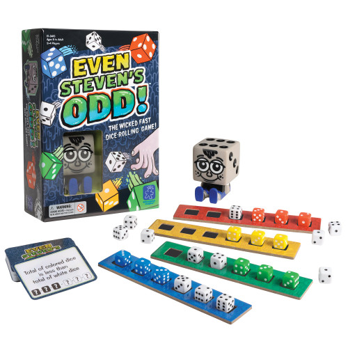 Educational Insights Even Steven's Odd, Dice-Rolling Challenge Game, Fun & Fast-Paced Family Game