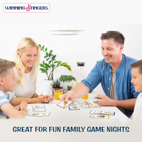 Winning Fingers Fun Card Game for Kids, Teens and Adults Ages 6+, Construction Race Family Game!