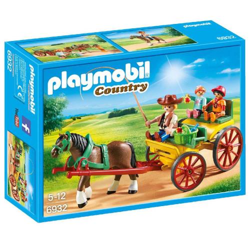 PLAYMOBIL Horse-Drawn Wagon Building Set