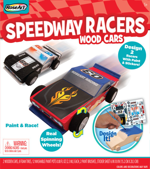 RoseArt Speedway Racers Wood Cars