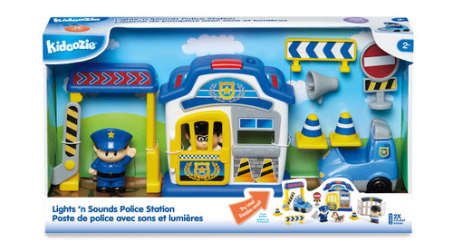 Kidoozie Lights 'n Sounds Police Station - 12 Piece Playset
