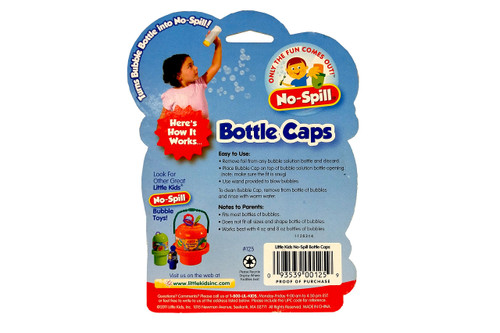 Little Kids: No-Spills Bottle Caps