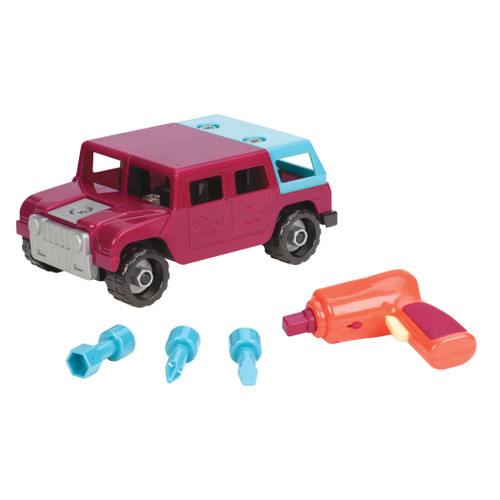 Battat Take-A-Part Toy Vehicles 4x4, Maroon