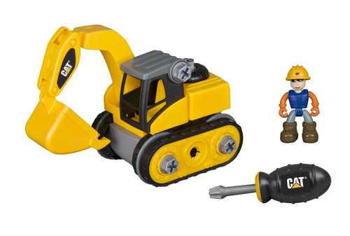 Toy State Caterpillar CAT Junior Operator Excavator Construction Vehicle