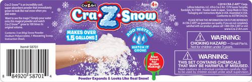 Cra-Z-Art Snow 3.5 oz Jar