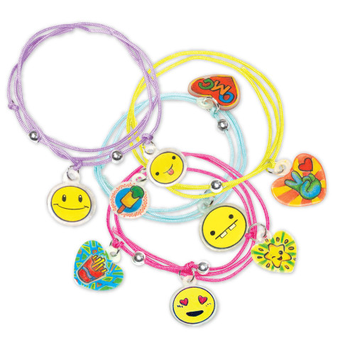 RoseArt Memoji Color N Shrink Jewelry, Bracelets