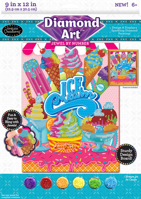 Cra-Z-Art Timeless Creations Diamond Art Jewel by # Sweet Treats 9 X 12, Multiple