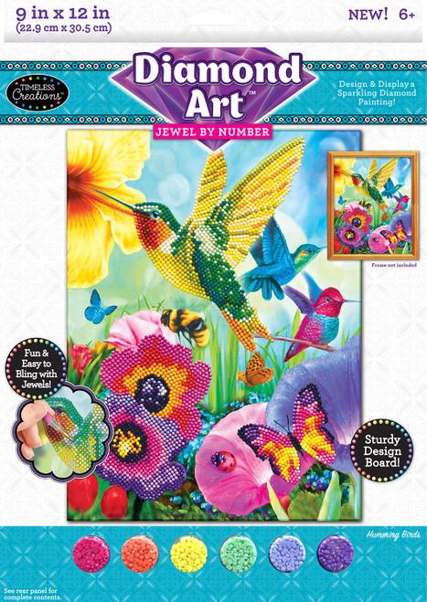 Cra-Z-Art Timeless Creations Diamond Art Jewel by # Hummingbirds 9 X 12, Multiple