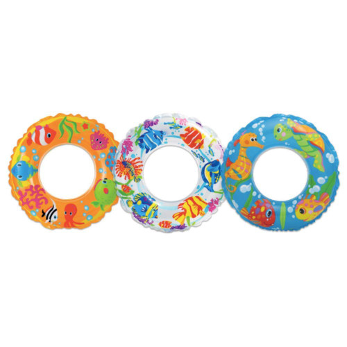 "Intex 59242EP 24"" Transparent Swim Ring Assorted Colors"