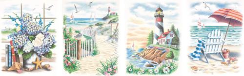 Dimensions PBN 9x12 Beach Scenes, None