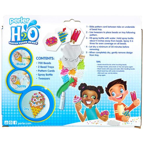 Perler H20 Water Fuse Beads Sweet Treats Kids Craft Activity Kit, 709 pcs