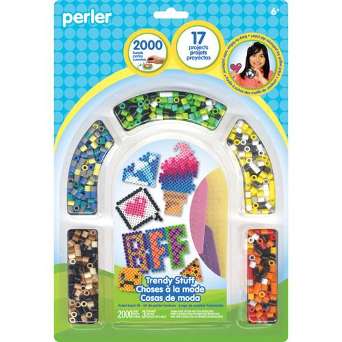 Perler Beads Trendy Stuff Fuse Bead Activity Kit for Kids Crafts, 2003 pcs