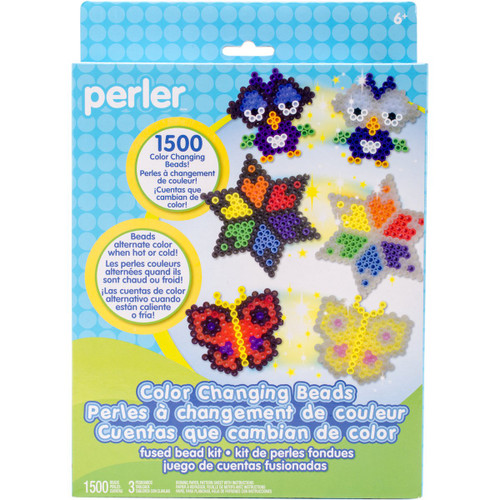 Perler Beads Color Change Beads Activity Kit Craft for Kids, 1505 pcs