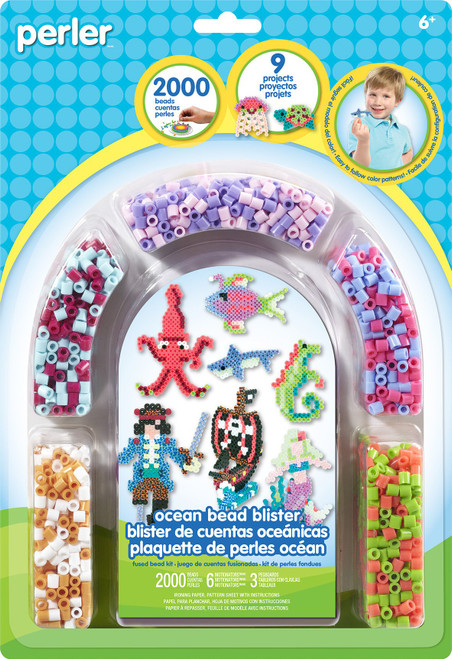 Perler Beads Ocean Pirate Fuse Bead Activity Kit for Kids, 2009 pcs