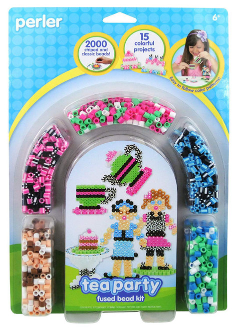 Perler Beads Tea Party Fused Bead Crafts for Girls, 2000 pcs