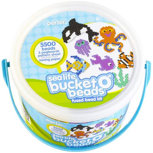 Perler Beads Sea Life Ocean Fuse Bead Bucket Craft Activity Kit, 5505 pcs