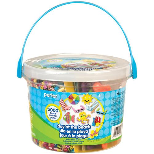 Perler Beads Day at The Beach Fuse Bead Bucket Craft Activity Kit, 5006 pcs