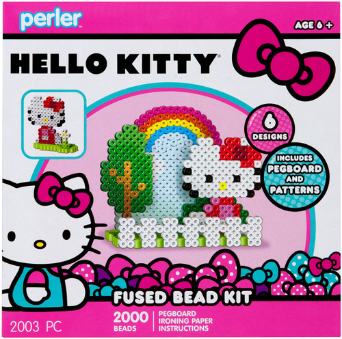 Perler Beads 3D Hello Kitty Bow Fused Bead Kit, 2003pc.