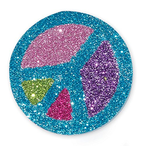Melissa & Doug Mess-Free Glitter Foam Beads Craft Kit (20 Beads, 6 Glitter Sheets, 4 Cords, and 4 Clasps, Great Gift for Girls and Boys - Best for 5, 6, 7, 8, 9 Year Olds and Up)