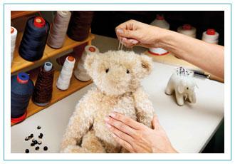 Steiff Teddy Bears are hand sewn