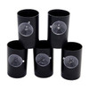 5 Black Film Canisters with Suction Cups