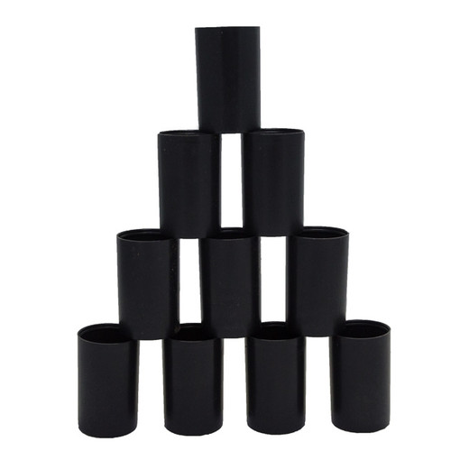 10 Black Film Canisters