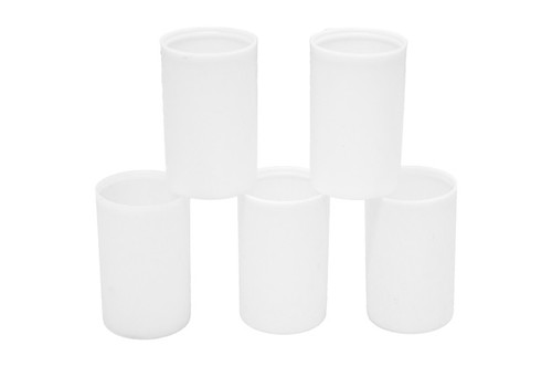 5 White Film Canisters