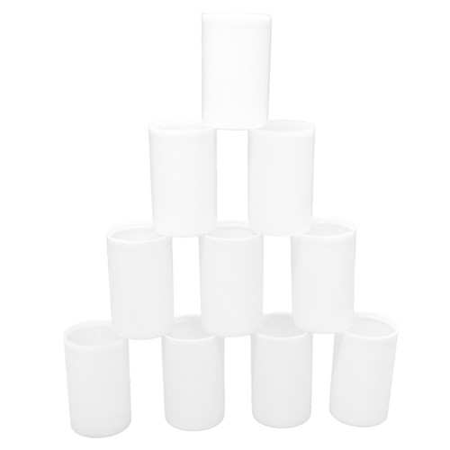 10 White Film Canisters