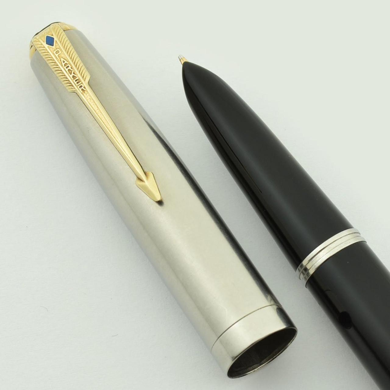 Parker Vacumatic Fountain Pen Vintage Black /& Gold Not Working 14K Nib Blue Diamond