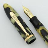 Sheaffer Balance Combo Pen Pencil 1930s - Black and Pearl, Medium-Fine 5-30 Nib (Excellent, Restored)