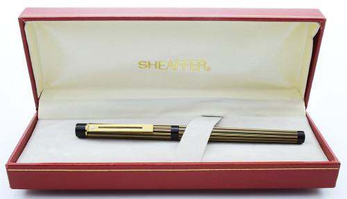 Sheaffer Targa 675S Fountain Pen - Regency Stripe, 14k Nibs, Slim Converter (New Old Stock in Box)