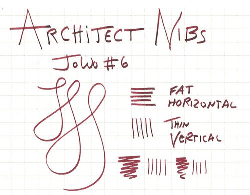JoWo #6 Gold Tone Steel Broad Nib - Architect Grind