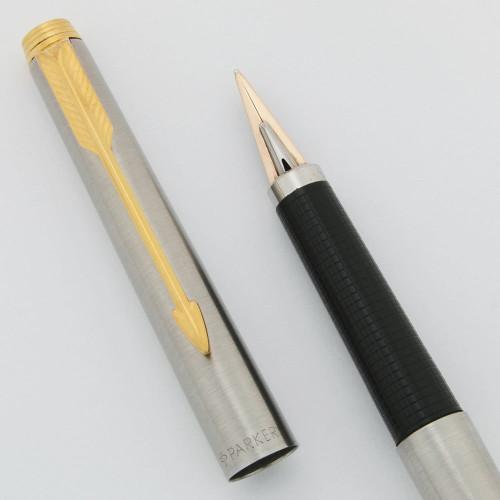 Parker 180 Fountain Pen - Flighter Style, Reversible 14k XM Nib (Near Mint in Box, Works Well)