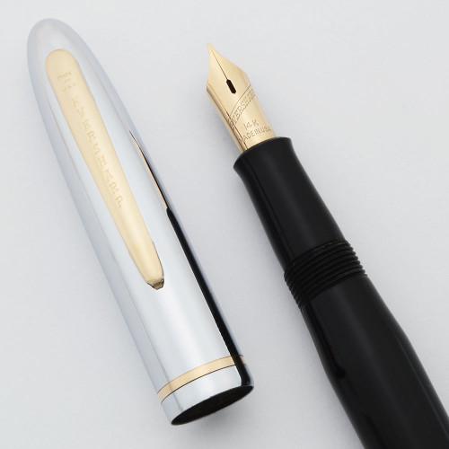 Eversharp Symphony 701 Fountain Pen - 14k Nib, Chrome Cap (New Old Stock, Restored)