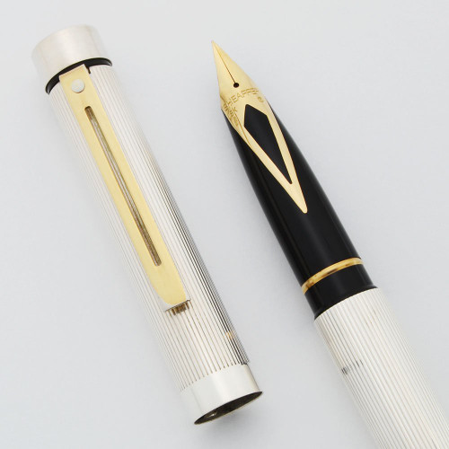 Sheaffer TARGA 1004 Fountain Pen - Sterling Silver Lined, Gold Trim, Various 18k Nibs (New Old Stock)