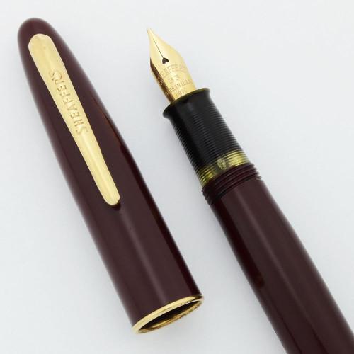 Sheaffer Craftsman Fountain Pen - Burgundy, Touchdown, #33 Medium 14k Nib (User Grade, Restored)