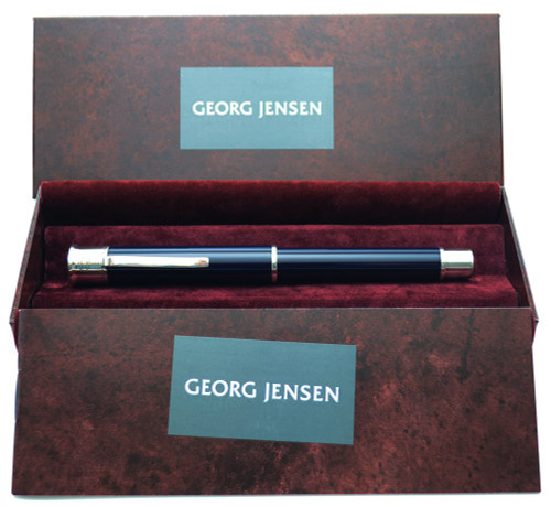 Georg Jensen Fountain Pen - Sterling w Lacquer, Steel Nib (New in Box)