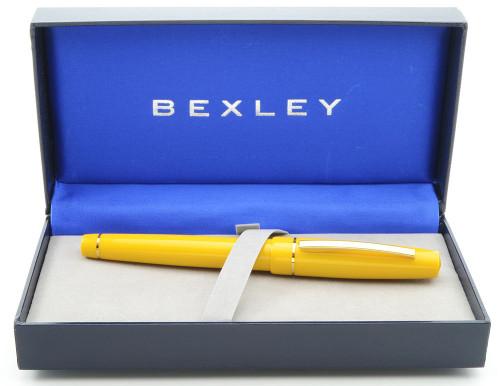 Bexley Intrepid Fountain Pen - Mandarin Yellow,  Broad 18K Nib (New in Box)