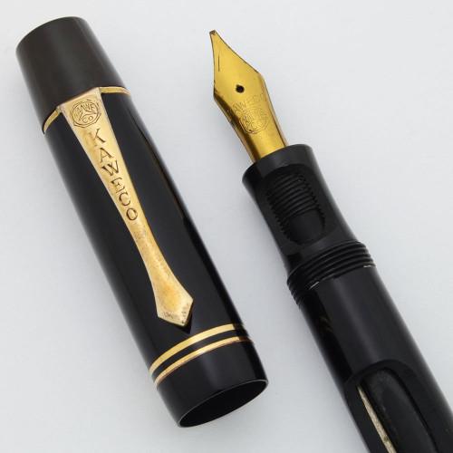 Kaweco Vintage Fountain Pen Demonstrator (1930s) - Rare, Button Filler, Black, OB Nib (Non-Working Demonstrator)