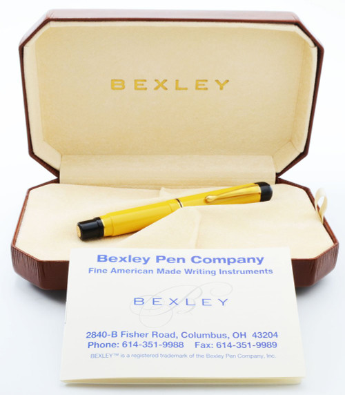 "Bexley Gaston Custom ""Yellow Jacket"" LE Fountain Pen (2006) - Broad 18k Nib (New in Box, Works Well)"